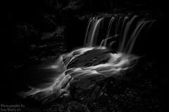 Jepson's Clough #3 (Fiverdog) Tags: water waterfall lancashire chorley rivington horwich blackdiamond flowingwater 60faves watermotion 25faves riverdouglas nikond600 dramaticblackandwhite nikonflickraward jepsonsclough monochromegroupf64