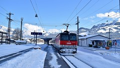 OBB 1144 019_Kirchberg in Tirol_Austria_310115 (DS 90008) Tags: train austria track carriage railway locomotive passenger pushpull rollingstock obb 1144 ohle electricloco locohauled 1144019