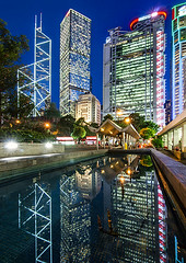 Hong Kong - 香港 (urbaguilera) Tags: blue urban building water architecture skyscraper reflections design pond nikon angle district daniel central wide headquarters scene tokina hong kong normanfoster hour 城市 香港 financial 夜景 hsbc 建築 aguilera impei 中國 設計 倒影 大樓 美麗 水池 中華人民共和國 都市計劃 d5000 角度 1116mm urbaguilera 藍色時光 藍色時刻