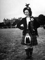 Betty Jessiman (1961 adult world champion) competing in the Highland Dancing at Banff Games. (stephane.beguinot) Tags: vintage kilt dancing highland highlanddancing