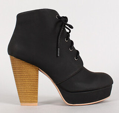 "lace up stacked heel platform blk • <a style=""font-size:0.8em;"" href=""http://www.flickr.com/photos/64360322@N06/16325604926/"" target=""_blank"">View on Flickr</a>"