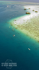 Punaauia, Tahiti, Kite aerial photography (Kites Have Eyes) Tags: kite photography boat photo paddle lagoon aerial canoe tahiti kap reef pirogue aérienne lagon récif punaauia