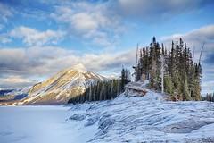 "All that remains ""in Explore #21"" (John Andersen (JPAndersen images)) Tags: winter mountain snow sunrise peak alberta calgarypower indefatigable sarrail kananaskislake ggaherty"