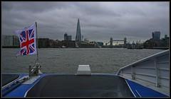 Gloomy London (33/365) (J-o-h-n---E) Tags: london towerbridge river boat 365 shard riverthames thamesclipper awps aperturewoolwich