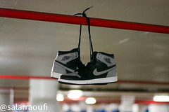 Shadows. (Salar Raoufi) Tags: from shadow 1 shadows air nike jordan hanging strings nikeair jordans 1s