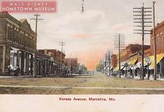 Main Street USA-Kansas Avenue (Dirt Street), Marceline, MO 1907