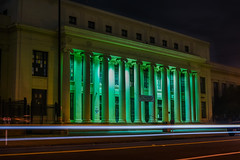 alameda high school (pbo31) Tags: california black color green architecture night dark nikon traffic may structure historic bayarea eastbay alameda 1920 alamedacounty centralavenue 2016 lightstream boury alamedahighschool pbo31 d810 neoclassicalrevival