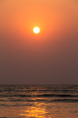 Sunset over Bay of Bengal (Mijan Rashid) Tags: ocean travel sunset red sea sun water canon golden asia waves outdoor indianocean wave tamron bangladesh goldenhour waterscape southasia bayofbengal coxsbazar stmartinisland tamron18270mm canon1100d