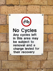 No Cycles (the Magnificent Octopus) Tags: york station sign design br rail signage british alphabet