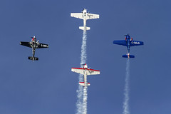 Reach for the stars (Kev Gregory (General)) Tags: old blue sky season star climb fly display zoom aircraft smoke sigma collection airshow trail cap e300 reach 50500 premiere 500 gregory warden 50 kev shuttleworth extra 232 2016 cap232 300lt giirp giitc ggejs gihhi