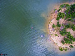 Lake of the Arbuckles (torqueabhi) Tags: travel blue trees people sunlight lake green oklahoma nature water colors landscape boat unitedstates outdoor aerial adobe shore sulphur chill discover lightroom aerialphotograph drone natgeo travelphoto phantom3 arbuckles dji beautifuldestinations dronelovers