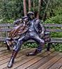 Departure (msuner48) Tags: trees sculpture plants canada statue vancouver bench couple britishcolumbia departure cs4 d600 topazlabs acr5 nicksoftware nikon1635mmf4 vandussenbotanical