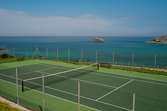 Ace view... (AJFpicturestore) Tags: sea court cornwall tennis tenniscourt coastalwalk northcornwall hff anyonefortennis westpentire alanfoster fencefriday aceview