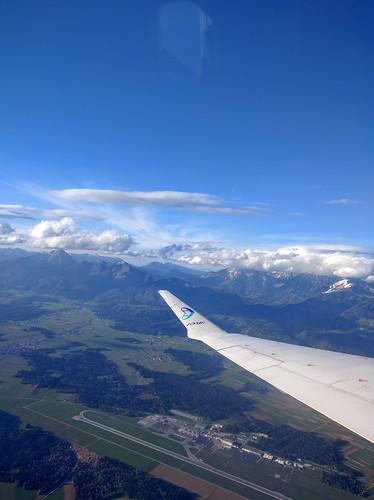 Ljubljana airport aerial