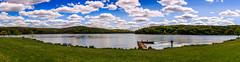 Moraine Panorama (david_sharo) Tags: panorama lake clouds landscape moraine davidsharo