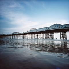 Brighton Pier at low tide (lomokev) Tags: seagulls reflection birds pier lomo brighton seagull brightonpier palacepier lomogaphy lca120 lomolca120 file:name=150730lomolca120kodakvc000005hi roll:name=150730lomolca120kodakvc000005hi