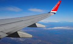 norwegian (waynorth) Tags: schnee natur norwegen norwegian flugzeug landschaft winglets luftbild flgel