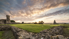 Learning the Curve (scott.hammond34) Tags: sky castle lines clouds sunrise canon landscape eos dawn countryside ruins outdoor country essex hadleigh goldenhour 6d samyang14mmf28