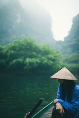 Silence (Alex Robertson) Tags: woman river countryside boat scenery asia vietnamese candid traditional vietnam silence karst ninhbinh conicalhat nnl trangan