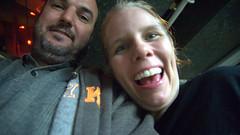 20150424 - hanging out at Evan's - Mike & Carolyn smiling - DSC5704 (Rev. Xanatos Satanicos Bombasticos (ClintJCL)) Tags: 20150424 201504 2015 hangingout hangingout20150424 virginia fallschurch house evanbshouse carolyn mikethomas smiling smile