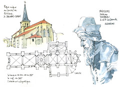 Poitiers, Jaunay-Clain (gerard michel) Tags: france sketch croquis poitoucharentes miseautombeau nicodme