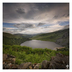 Wicklow... (fearghal breathnach) Tags: lough tay loughtay wicklow wicklowmountains squareformat square border landscape ireland mountains lake view
