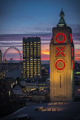 OXO Tower (Lovebirds Creative) Tags: bridge london tower st architecture night pauls oxo