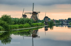 Serenity at Kinderdijk (Marc Haegeman Photography) Tags: kinderdijk nederland holland zuidholland windmolens windmills unescoworldheritagesite nikond800 water serene marchaegemanphotography rotterdam still sky reflections outdoor molen mill landscapes travel