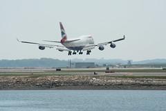 IMG_2465 (wmcgauran) Tags: boston airplane airport aircraft aviation boeing bos britishairways 747 eastboston kbos gbygd