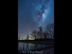 Milky Way over the RDR (Rangitata Diversion Race) (Maree A Reveley Photography) Tags: purenz reflection instagram astro astrophotography waterway canal galacticcore galaxy stars longexposure night nz newzealand canterburynz milkyway mareeareveleyphotography mareeareveley