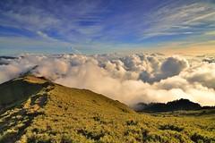 合歡山主峰~漫步雲端~ Walking On Air (Shang-fu Dai) Tags: 台灣 taiwan 合歡山 主峰 3416m 3417m 雲海 sea clouds sunset hehuan nikon d800 mthehuan afs1635mmf4 夕陽 landscape 戶外 formosa 天空