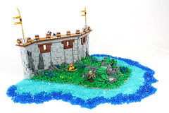 The Outer Wall (David FNJ) Tags: castle stone wall landscape rocks lego medieval summerjoust