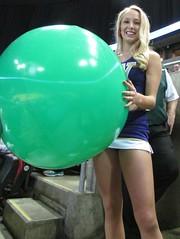Posing with ball (bulgo125) Tags: college uw washington huskies cheerleader