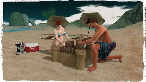 Never too old for sandcastles