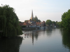River Thanes, Abingdon with view of St Helen's church (John Steedman) Tags: uk greatbritain england church unitedkingdom berkshire oxfordshire sthelens berks oxon grossbritannien     grandebretagne