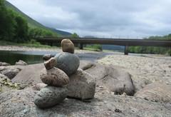 Rock Balancing (Gaz T) Tags: uk rock stone river outdoors scotland pebble balanced stacked rockbalancing stonebalancing riverfyne
