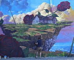Create your own World (Alex L'aventurier,) Tags: street city roses urban canada man art colors wall painting paint artist montral quebec montreal couleurs qubec rue mur ville homme urbain artiste murale jonathanbergeron