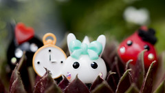 Alice White Rabbit + her knights (Jam-Gloom) Tags: cute japan toy toys olympus cheeks chan kawaii omd japanesetoy hoppe toyphotography em5 cutetoy toyography kawaiitoy olympusomd olympusomdem5 hoppechan cheekschan