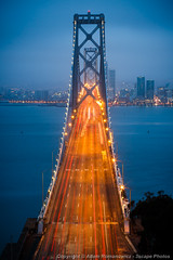 San Francisco - Oakland Bay Bridge (3scapePhotos) Tags: ocean sanfrancisco california road above city longexposure morning travel bridge light urban usa motion west color vertical fog skyline architecture modern night dark landscape island dawn oakland bay coast landscapes office highway san francisco long exposure downtown cityscape treasure treasureisland traffic streak suspension dusk contemporary den cities trails cityscapes wallart aerial livingroom coastal baybridge yerba westcoast buena yerbabuenaisland 3scapephotos