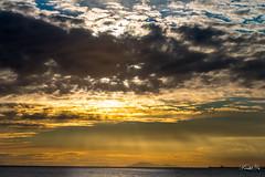 Light  (T.ye) Tags: light sunset orange cloud sunlight mountain texture landscape ray  todd ye