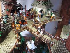 Ewokdorf - Feier 03 (KW_Vauban) Tags: starwars lego endor ewokvillage episodevi thereturnofthejedi