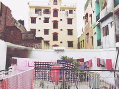 The Stage is Set (Mayank Austen Soofi) Tags: skyline terrace balcony stage delhi courtyard clothes laundry basti hazrat nizamuddin walal