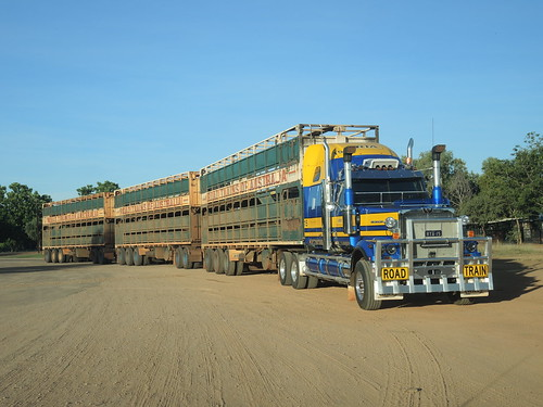 Western Star of RoadTrains Australia, RTA 15, at Fitzroy Crossing, WA