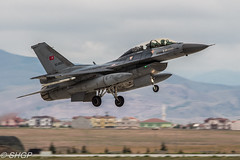 F-16D Fighting Falcon, Turkish Air Force, Anatolian Eagle 2016, Turkey (harrison-green) Tags: pakistan canon turkey airplane eos force eagle outdoor aircraft aviation air jet sigma f16 falcon vehicle fighting turkish nato anatolian 2016 f16c 700d 150500mm