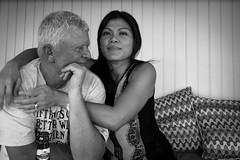 Rita and her man (MyEyeSoul) Tags: rita peter portrait people cafe bali indonesia myeyesoul love owned man woman couple partners husband wife blackandwhite bw monochrome bintang