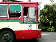 Mode Of Transport Cars Bus Travel Traffic Thailand Red Driving Bangkok