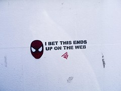 graffiti (friendlydrag0n) Tags: street art wall graffiti web spiderman spray graffito