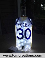 Golden State Warriors Stephen Curry (TCM Creations) Tags: basketball 30 bar golden pub state cinnamon whiskey curry stephen tavern jersey whisky leds warriors bourbon nba saloon fireball mancave