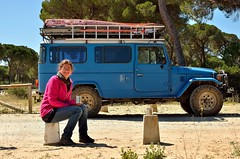 Time for a coffee near Puerto de Santa Maria [Spain] (babakotoeu) Tags: car jeep offroad 4x4 toyota land series 40 landcruiser cruiser troopy bj40 40series bj45
