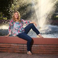 Full-Length Portrait of Natalie (eoscatchlight) Tags: arizona portrait blonde tempe seniorportrait outdoorportrait strobist asugammagetheater